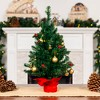 Best Choice Products 22in Pre-Lit Tabletop Artificial Christmas Tree w/ LED Lights, Berries, Ornaments - image 2 of 4