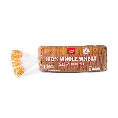 100% Whole Wheat Bread - 20oz - Market Pantry™
