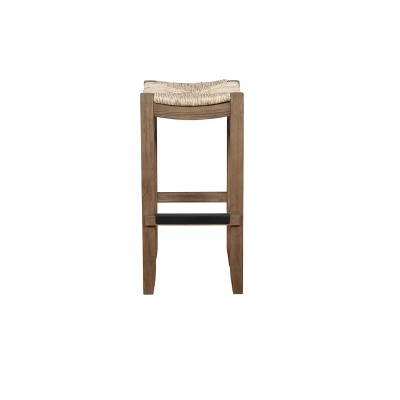 "30"" Davenport Wood Barstool Light Amber - Alaterre Furniture"