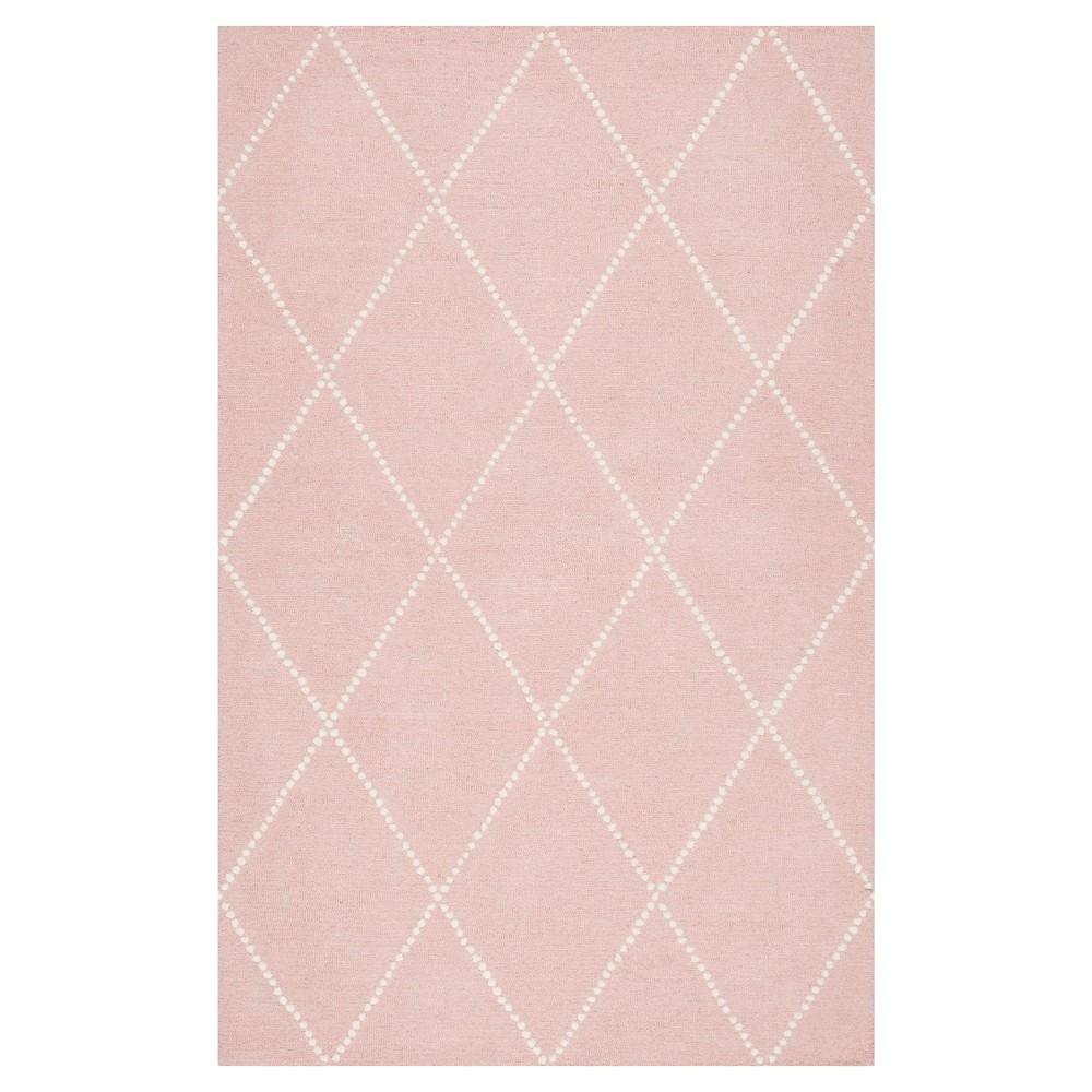 5 39 X8 39 Wool Hand Tufted Elvia Area Rug Baby Pink Nuloom
