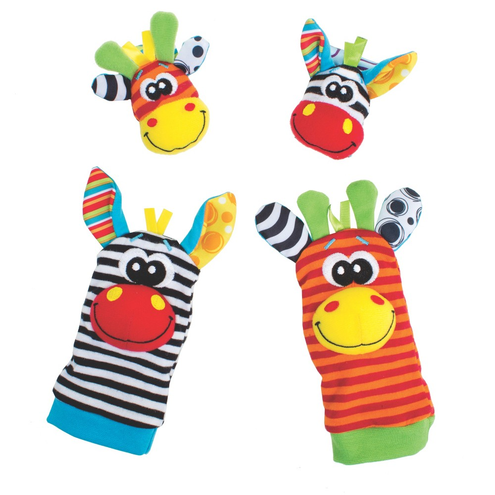 Image of Playgro Jungle Wrist Rattle and Foot Finder