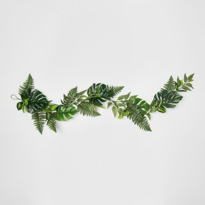 72  x 2.5  Artificial Monstera And Fern Leaves Garland Green - Opalhouse™