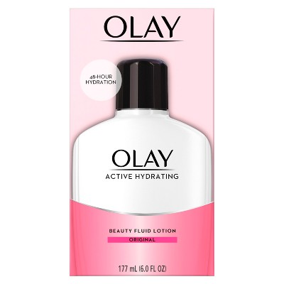 Facial Moisturizer: Olay Active Hydrating Beauty Fluid Lotion