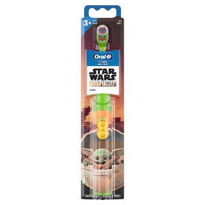 Oral-B Kid's Battery Toothbrush featuring Star Wars: The Mandalorian Soft Bristles