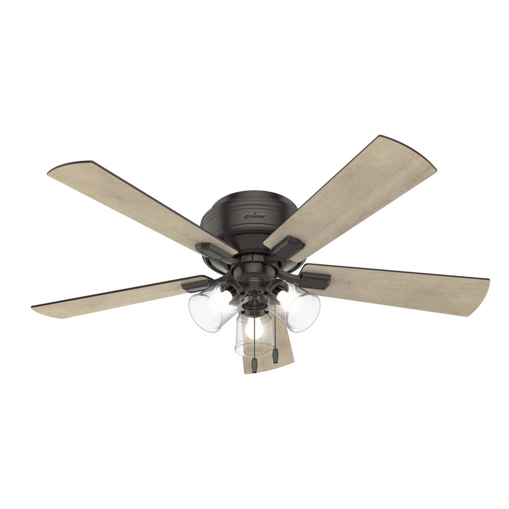 "Image of ""52"""" LED Crestfield Ceiling Fan with Light Noble Bronze - Hunter Fan"""