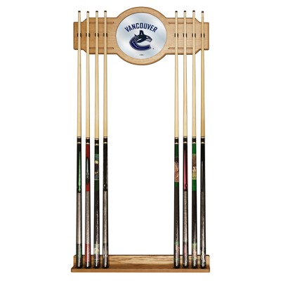 NHL Cue Rack with Mirror