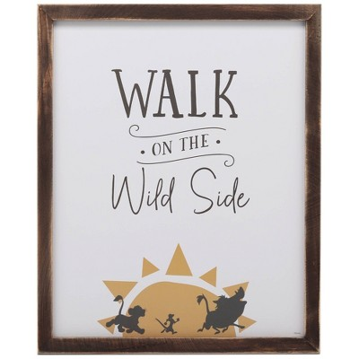 The Lion King Walk On Wild Side Wood Framed Wall Canvas