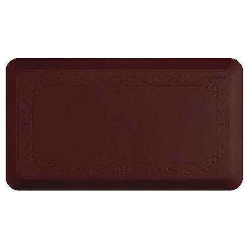 "Burgundy Fleurdelys Series (36"" X 20"") Home Collection Kitchen Comfort Floor Mat - Smart Step - image 1 of 1"