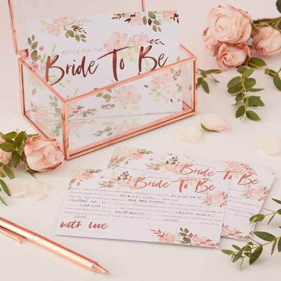 """Bride To Be"" Advice Party Card"
