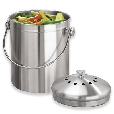 iDESIGN Compost Bin Silver