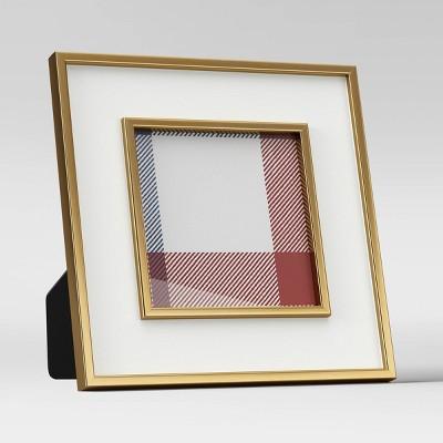 """4"""" x 4"""" Holiday Single Image Frame White - Threshold™"""