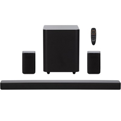 Monoprice SB-500 Dolby Digital 5.1 Soundbar with Wireless Surround Speakers and Wireless Subwoofer, 2 HDMI Inputs, 4K HDR Pass-Through, Optical, Coax,