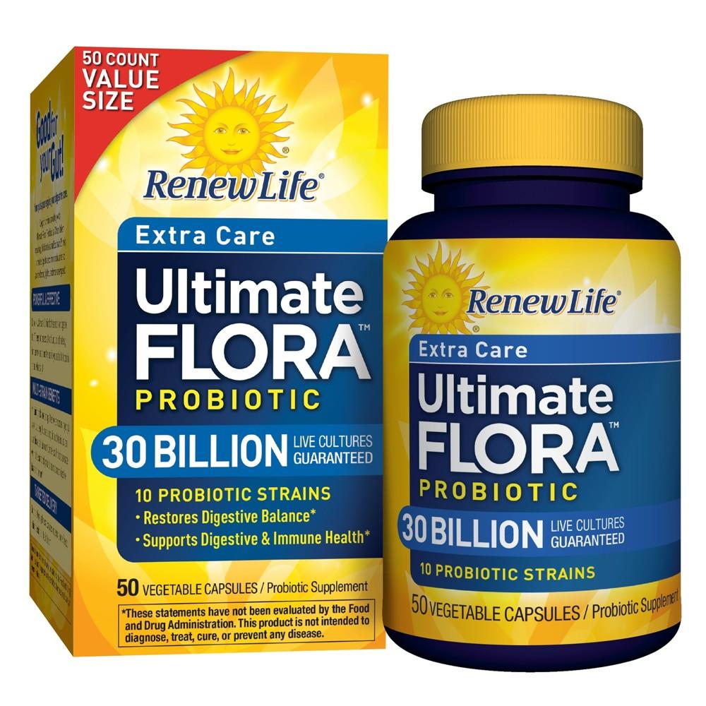 Renew Life Extra Care Probiotic - Ultimate Flora - 30 Billion - 50ct