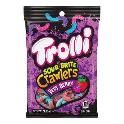 Trolli Sour Brite Crawlers Very Berry Gummi Candy - 7.2oz
