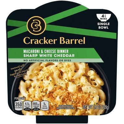 Cracker Barrel Vegetarian Single Bowl Mac & Cheese White Cheddar - 3.8oz
