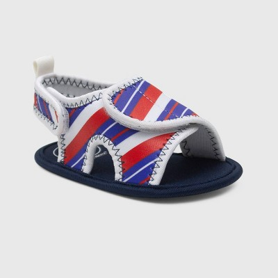 Ro+Me by Robeez Baby Boys' Striped Ankle Strap Sandals