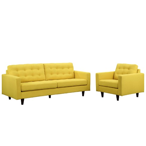 Empress Armchair and Sofa Set of 2 Sunny - Modway - image 1 of 6
