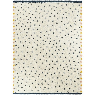 "5'2""x7' Confetti Shag Blue - Balta Rugs"
