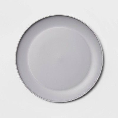 "10.5"" Plastic Dinner Plate Gray - Room Essentials™"