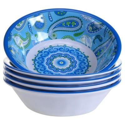 Certified International® Boho by Debra Valencia Melamine Bowls 22oz Blue - Set of 6