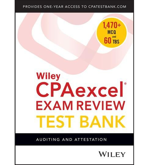 Wiley Cpaexcel Exam Review 2018 Test Bank 1-year Access Card : Auditing and Attestation -  (Hardcover) - image 1 of 1