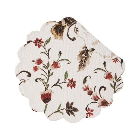 C F Home Autumn Bloom Cotton Quilted Round Reversible Placemat Set Of 6 Target