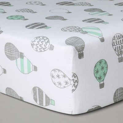 Crib Fitted Sheet Hot Air Balloons - Cloud Island™ Gray