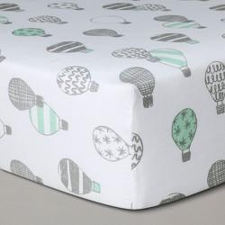 "Cloud Island Crib Fitted Sheet 100/% Cotton Robots Print 28/"" X 52/"" Fully Elastic"