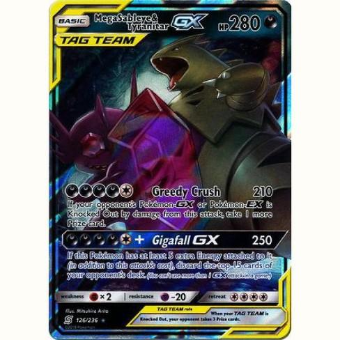 Pokemon Mega Sableye /& Tyranitar Tag Team GX 126//236 Sun /& Moon Unified Minds