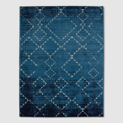 Distressed Diamonds Navy Outdoor Rug - 5'x7' - Threshold™