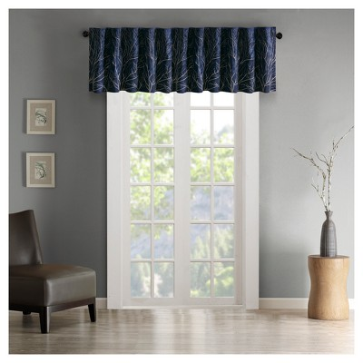 "18""x50"" Faux Silk Blackout Embroidered Window Valance - Aden"