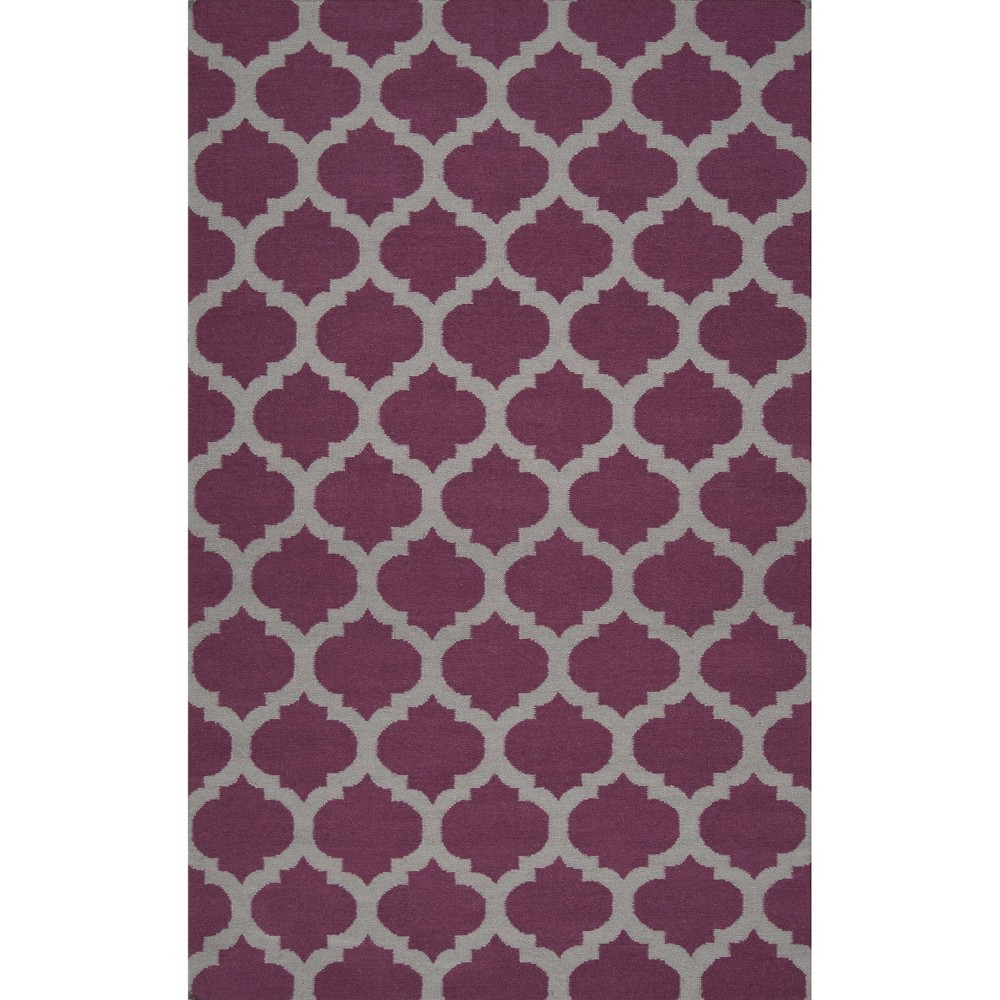 8'x11' Geometric Area Rug Wine (Red) - Surya