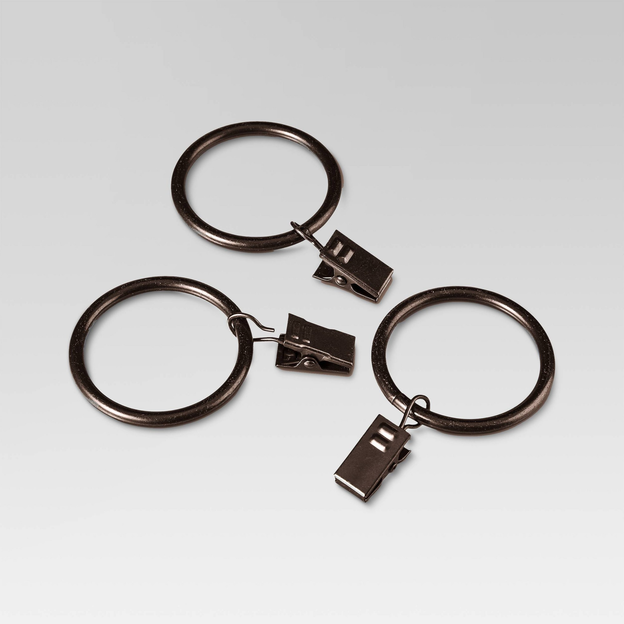 Curtain Clip Rings Set - Oil Rubbed Bronze - Threshold , Brown
