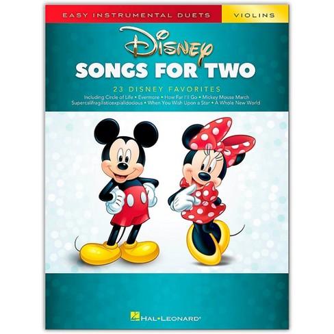 Hal Leonard Disney Songs for Two Violins - Easy Instrumental Duets Series Songbook - image 1 of 1