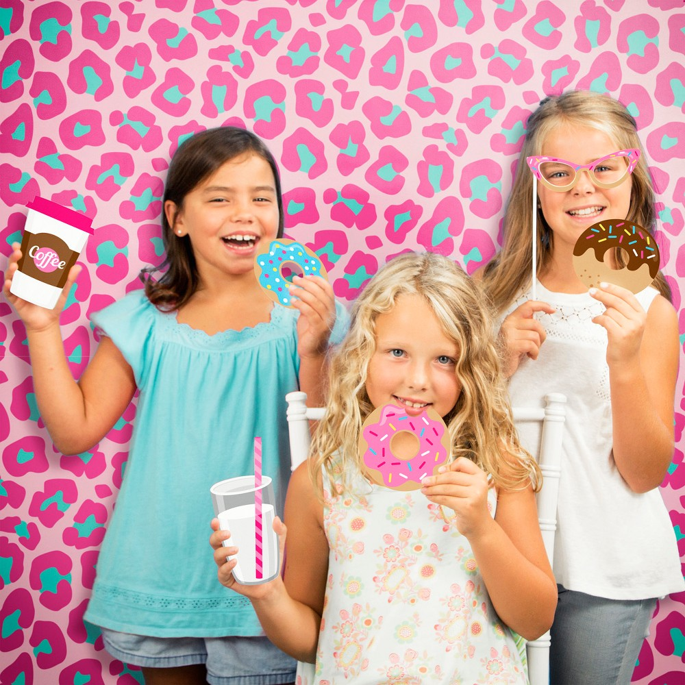 Donut Time Photo Booth Kit, Multi-Colored