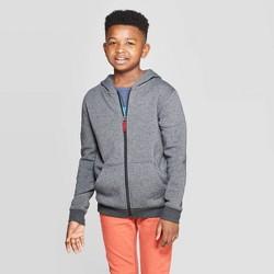 Boys' Long Sleeve Fleece Hooded Sweatshirt - Cat & Jack™