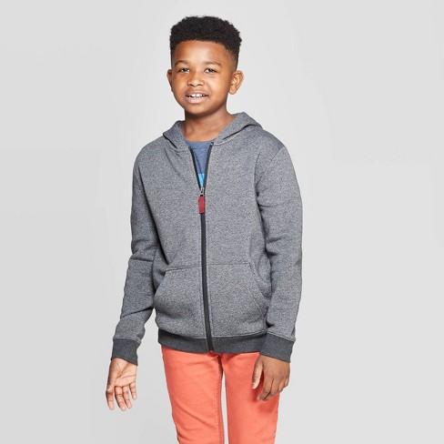 Boys' Fleece Hooded Sweatshirt - Cat & Jack™ - image 1 of 3
