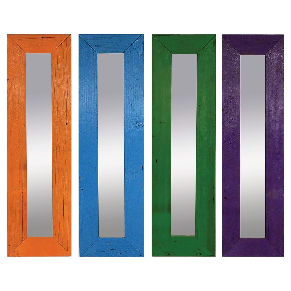 Image of Rectangle Color Pop Mirror Set of 4 - PTM Images