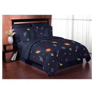 Navy Space Galaxy Comforter Set (Full/Queen) - Sweet Jojo Designs