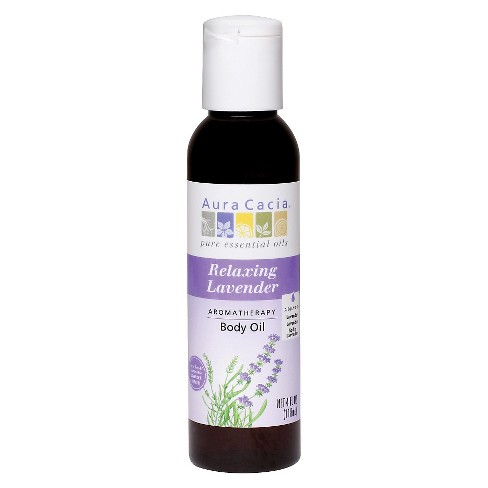 Aura Cacia Relaxing Lavender Aromatherapy Body Oil - 4 oz - image 1 of 4