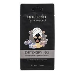 Que Bella Professional Detoxifying Black Peel Off Face Mask - 0.5oz