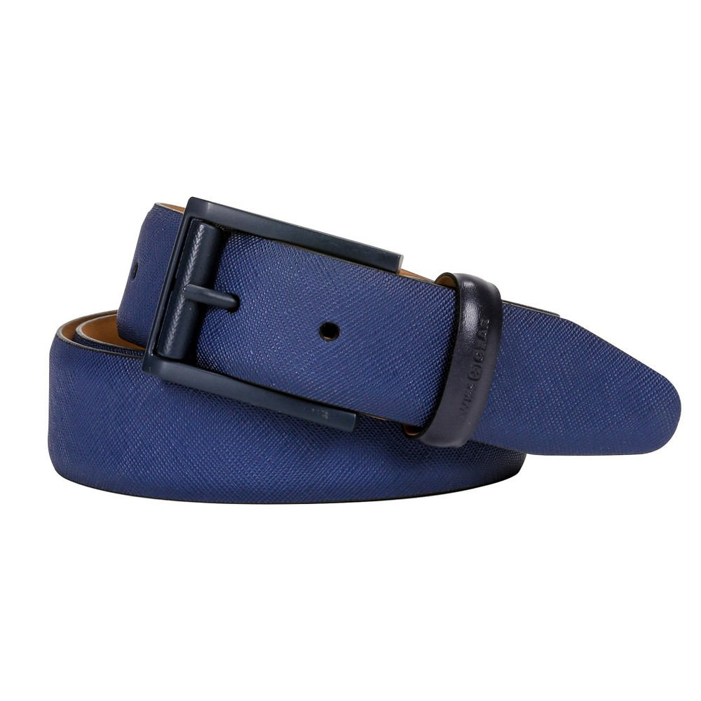 Swiss Gear Men's Saffiano Belt - Blue M