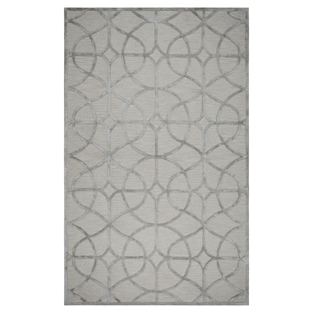 Trellis Rug - Ivory/Silver - (5'X8') - Rizzy Home
