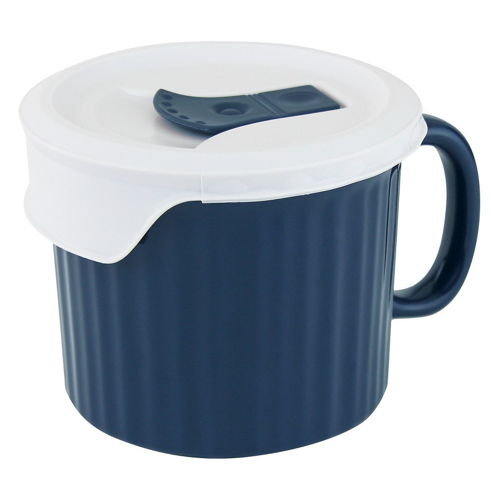 CorningWare Pop-In Mug - Midnight with French White Lid - 20oz, Midnight Blue