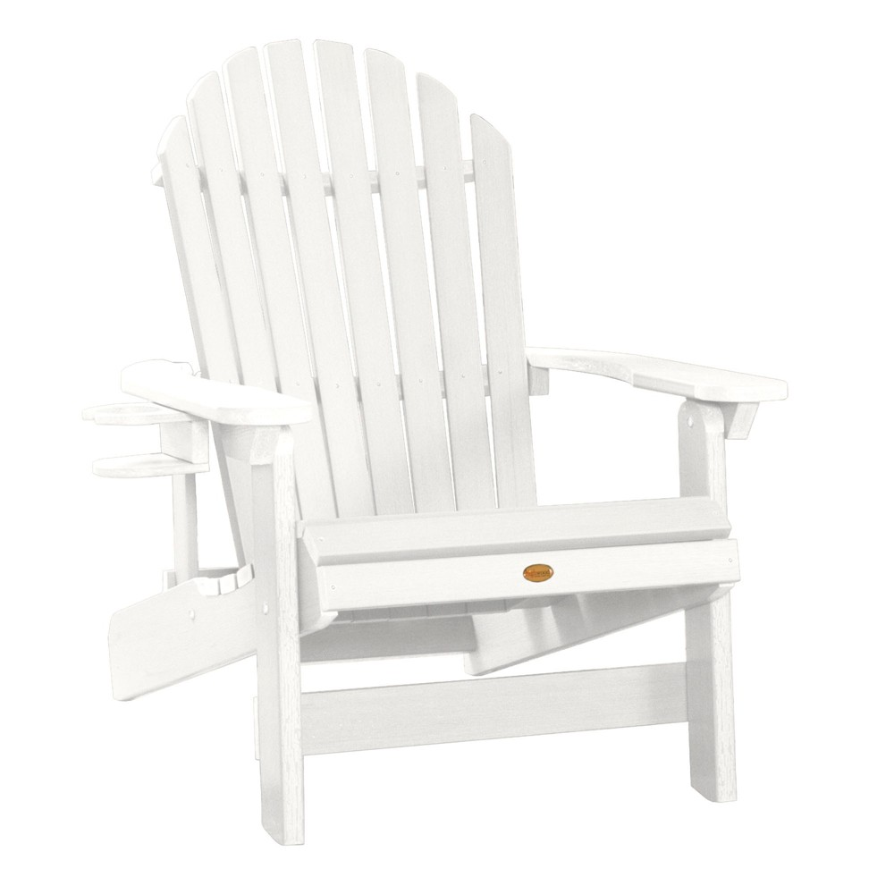 King Hamilton Folding & Reclining Adirondack Chair with Easy-Add Cup Holder White - Highwood
