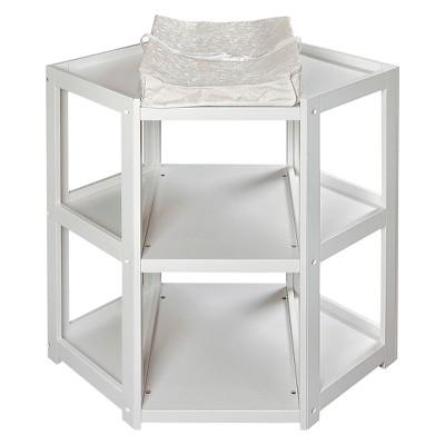 Badger Basket White Corner Baby Changing Table