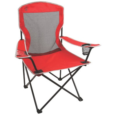 Coleman® Cool Mesh Quad Chair with Carrying Case - Red