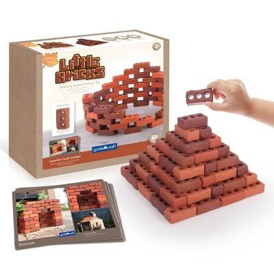 Guidecraft Little Bricks with Concept Cards - 60 Piece Set