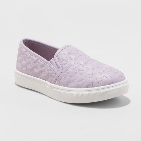 Girls' Anna Slip on Quilted Sneakers - Cat & Jack™ Purple 13 - image 1 of 3