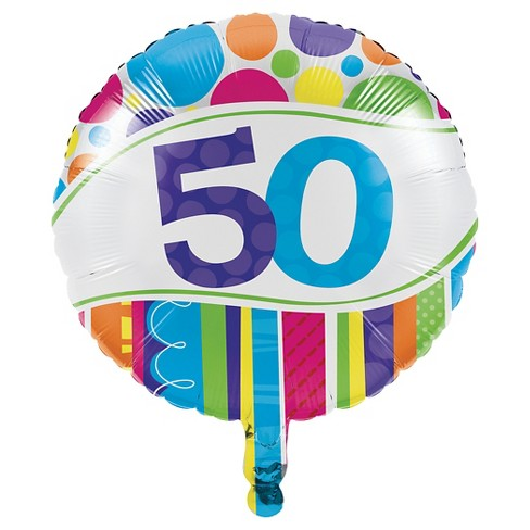 Bright And Bold 50th Birthday Mylar Balloon Target